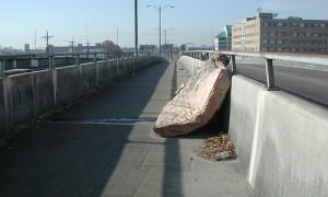 dumped mattress